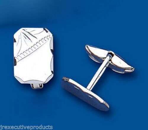Rectangular Cufflinks Solid Sterling Silver